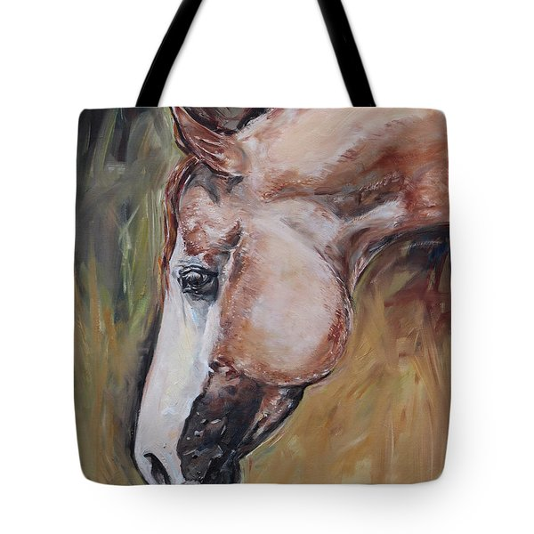 Red Roan Horse Tote Bag