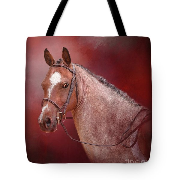Red Roan Tote Bag by Kathy Russell