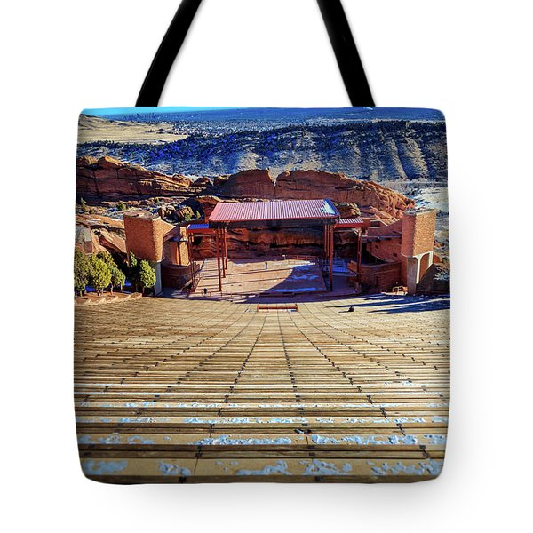 Red Rock Amphitheater Tote Bag by Barry Jones