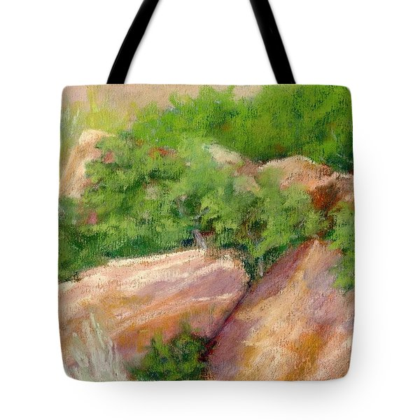 Red Rock And Scrub Oak Tote Bag