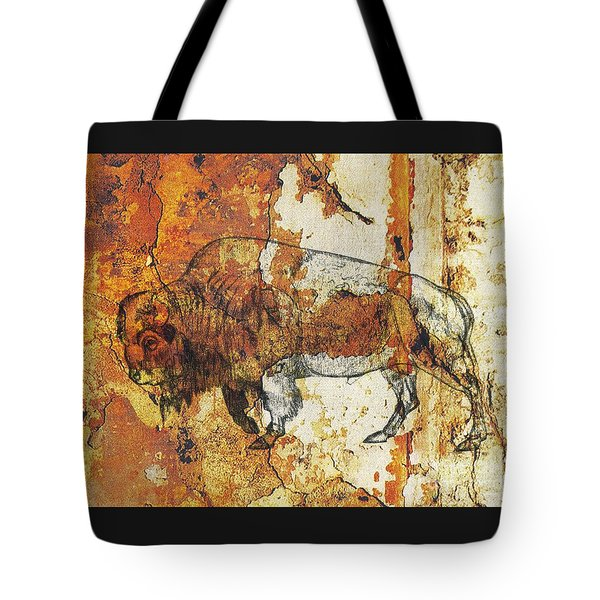 Tote Bag featuring the photograph Red Rock Bison by Larry Campbell