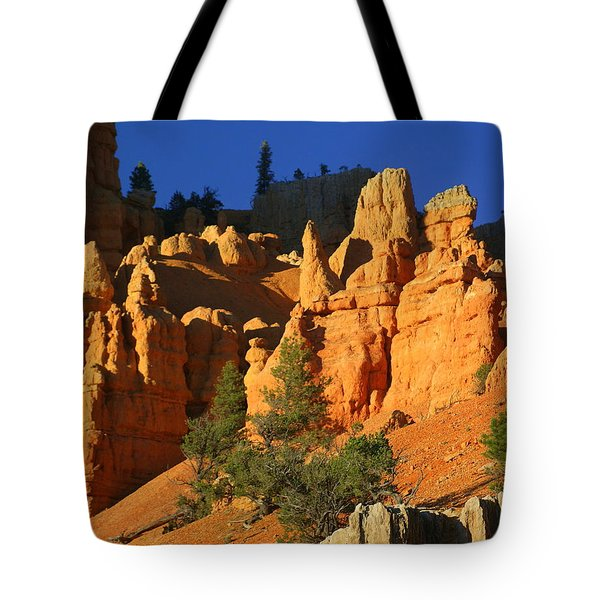 Red Rock Canoyon At Sunset Tote Bag by Marty Koch