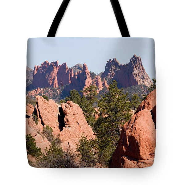 Red Rock Canyon Open Space Park And Garden Of The Gods Tote Bag