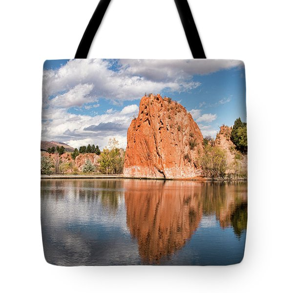 Red Rock Canyon Reservoir Tote Bag