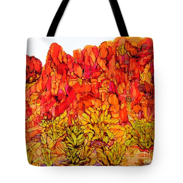 Red Rock Canyon Veiw From The Loop Tote Bag