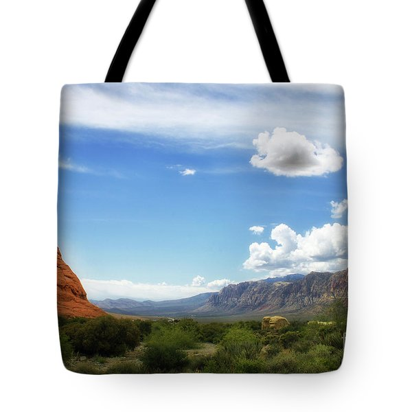 Red Rock Canyon Vintage Style Sweeping Vista Tote Bag