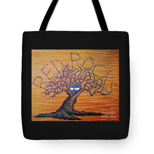Red Rock Colorado Love Tree Tote Bag