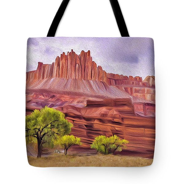 Red Rock Cougar Tote Bag by Walter Colvin