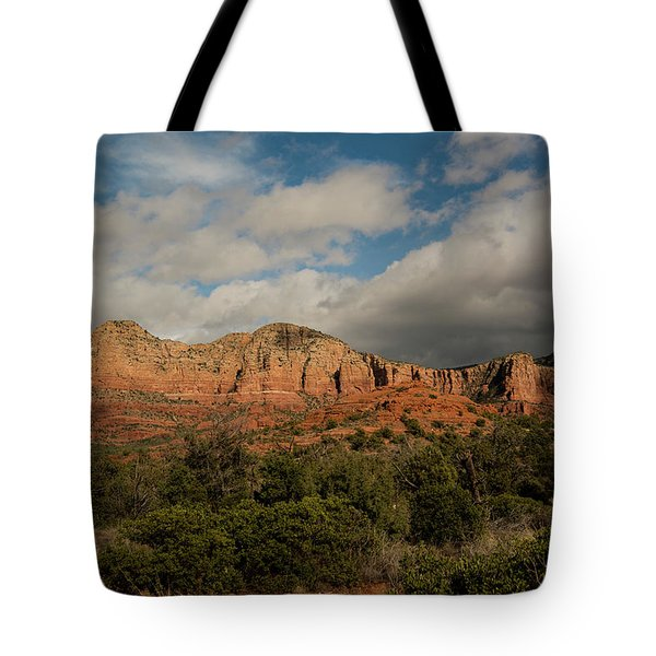 Red Rock Country Sedona Arizona 3 Tote Bag by David Haskett