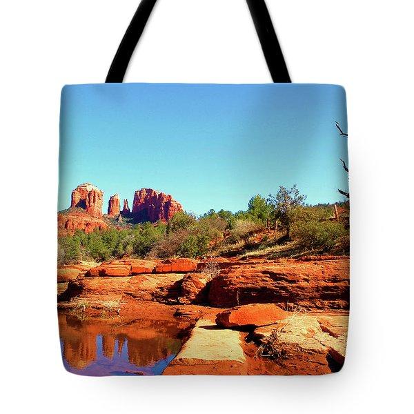 Red Rock Crossing Tote Bag