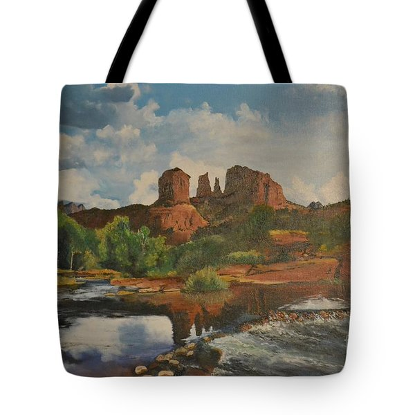 Red Rock Crossing Tote Bag