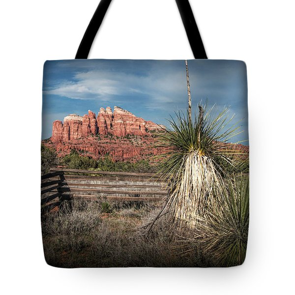 Tote Bag featuring the photograph Red Rock Formation In Sedona Arizona by Randall Nyhof
