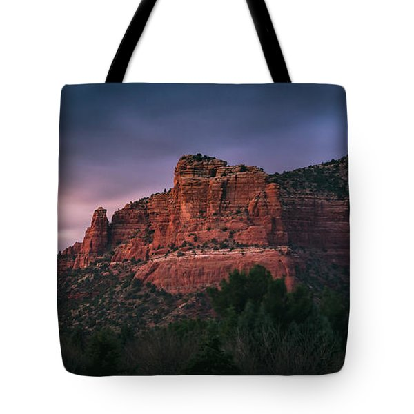 Tote Bag featuring the photograph Red Rock Formations Long Exposure by Andy Konieczny