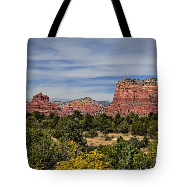 Tote Bag featuring the photograph Red Rock Scenic Drive by John Gilbert