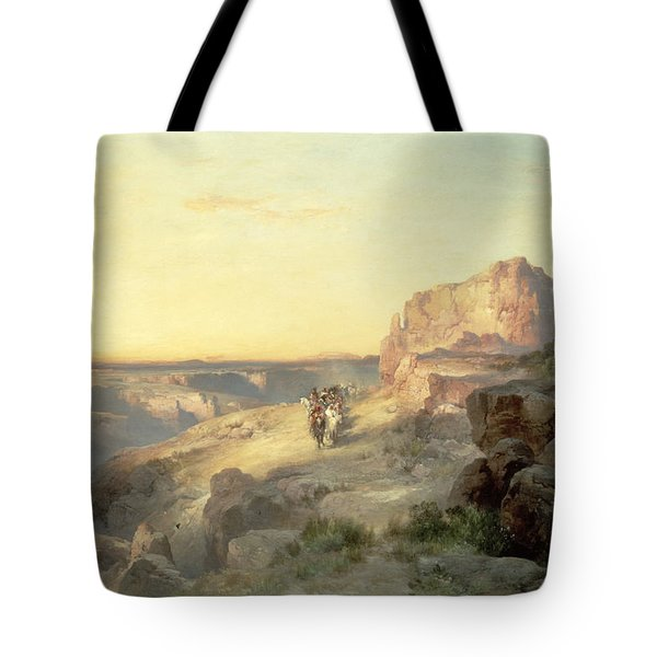Red Rock Trail Tote Bag by Thomas Moran