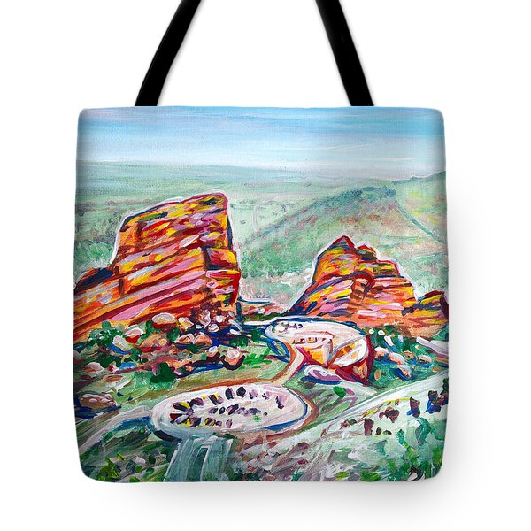 Red Rocks Amphitheatre Tote Bag