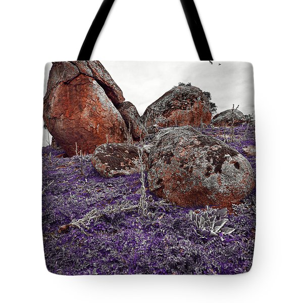 Red Rocks And Thunder Tote Bag