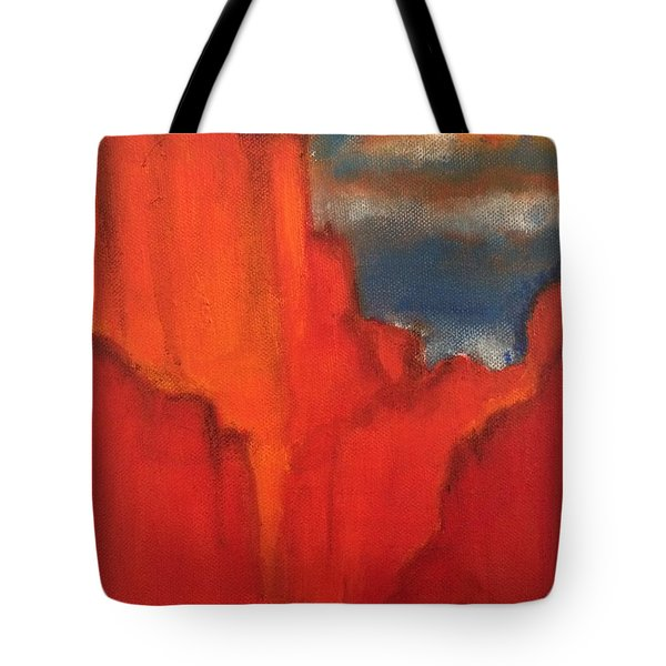 Tote Bag featuring the painting Red Rocks by Kim Nelson