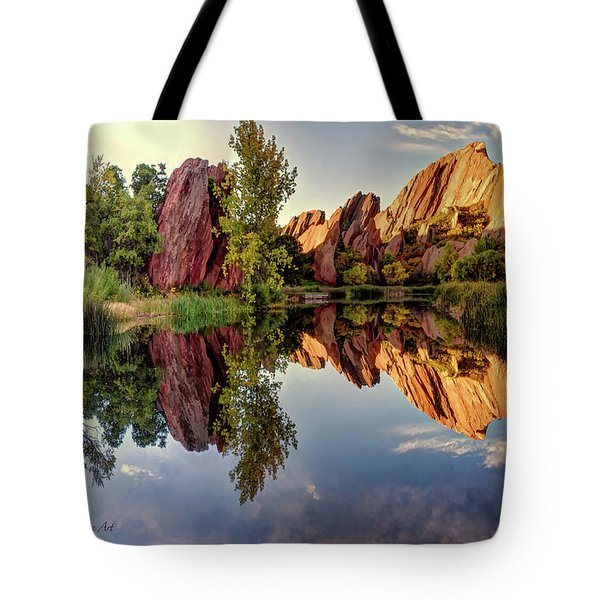 Red Rocks Reflection Tote Bag