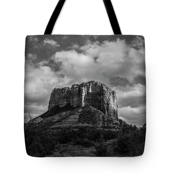 Red Rocks Sedona Bnw 1 Tote Bag by David Haskett