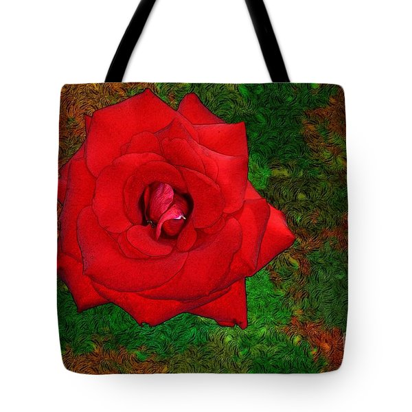 Red Rose 2 Tote Bag by Jean Bernard Roussilhe