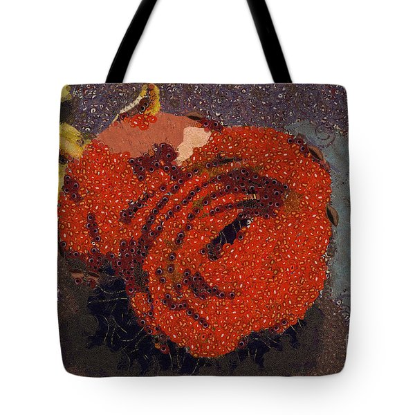 Red Rose Abstract Tote Bag by Shirley Stalter