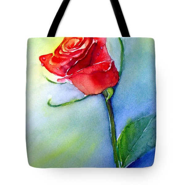 Red Rose Tote Bag by Allison Ashton