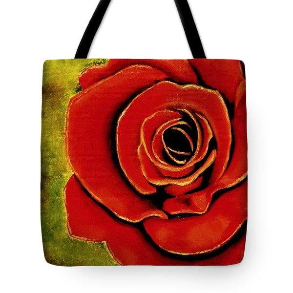 Red Rose Blooms Tote Bag