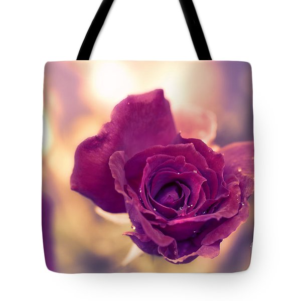 Red Rose Tote Bag by Charuhas Images