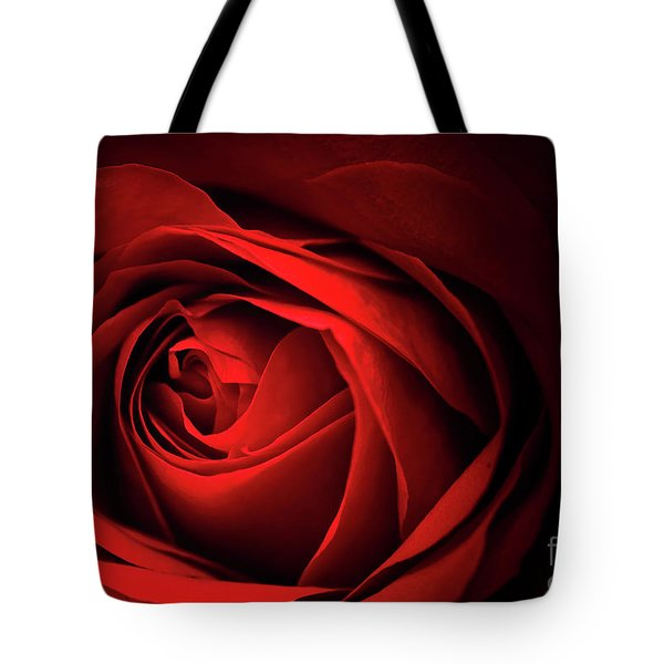 Red Rose Close Tote Bag by Charline Xia