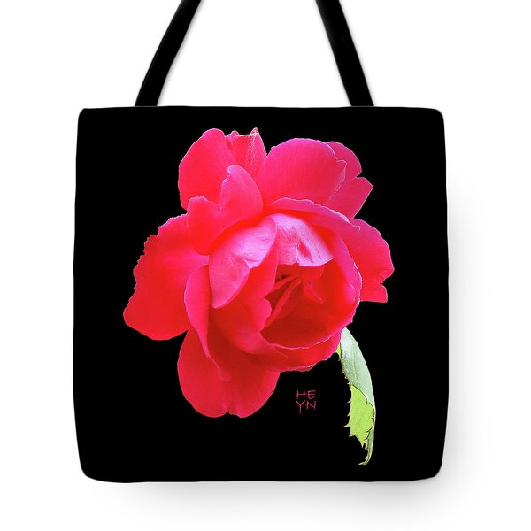 Red Rose Cutout Tote Bag