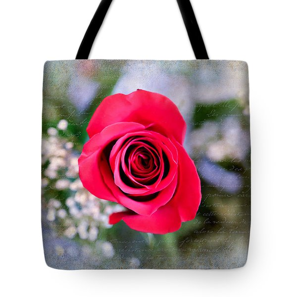 Red Rose Elegance Tote Bag