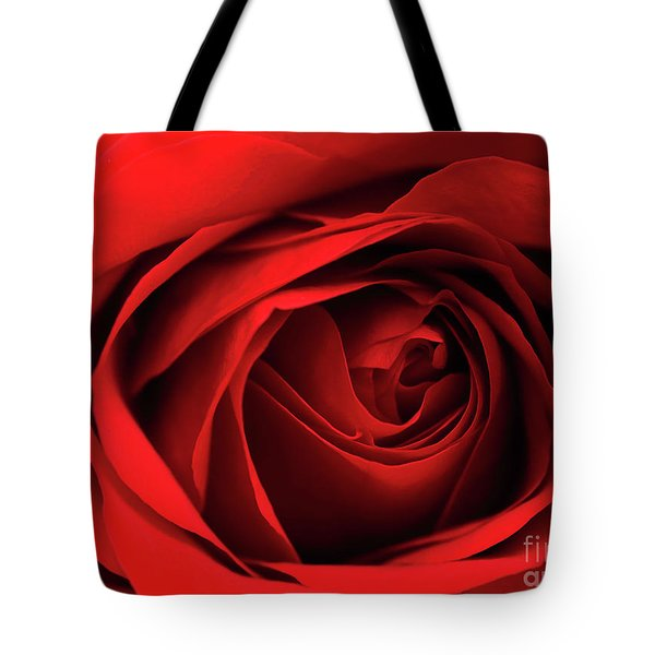 Red Rose Flower Tote Bag by Charline Xia