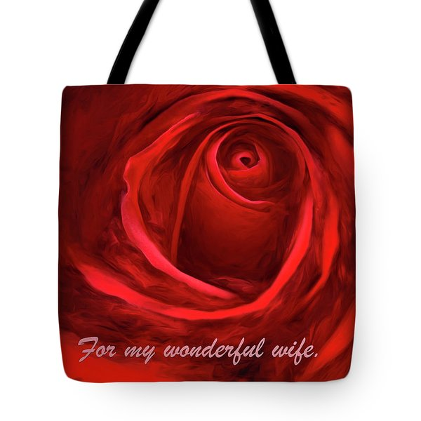Red Rose II Tote Bag by George Robinson