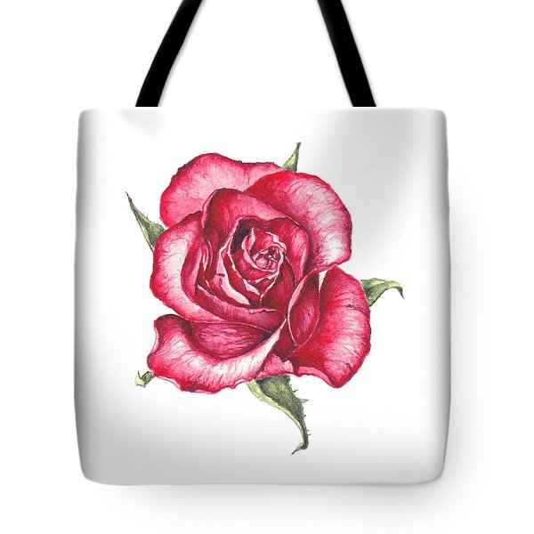 Tote Bag featuring the painting Red Rose by Heidi Kriel