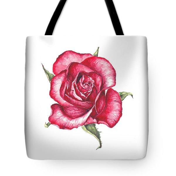 Red Rose Tote Bag by Heidi Kriel