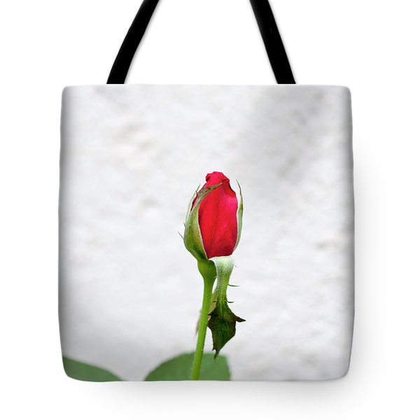 Red Rose In A Garden  Tote Bag