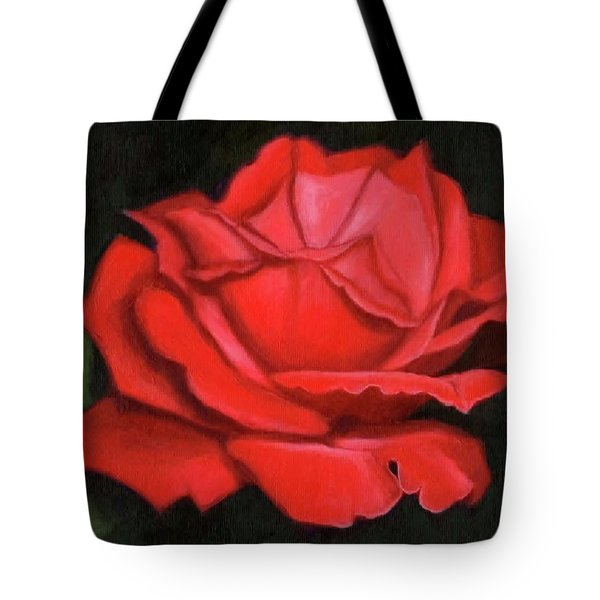 Red Rose Tote Bag by Janet King