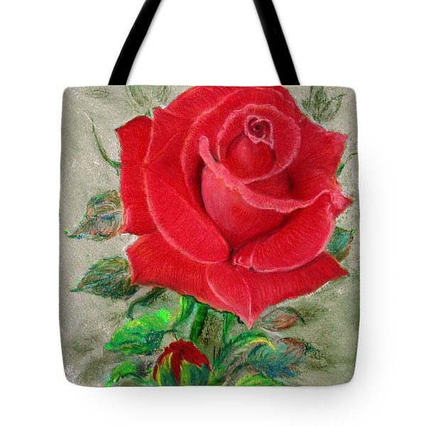 Red Rose Tote Bag by Jasna Dragun