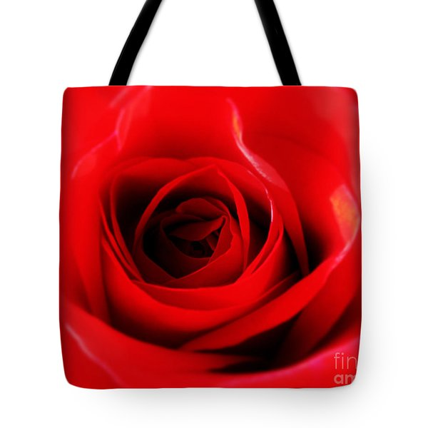 Tote Bag featuring the photograph Red Rose by Nina Ficur Feenan