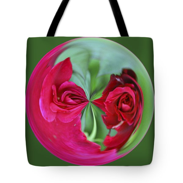 Tote Bag featuring the photograph Red Rose Orb by Bill Barber