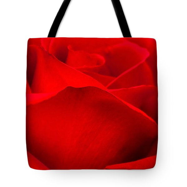 Red Rose Petals Tote Bag
