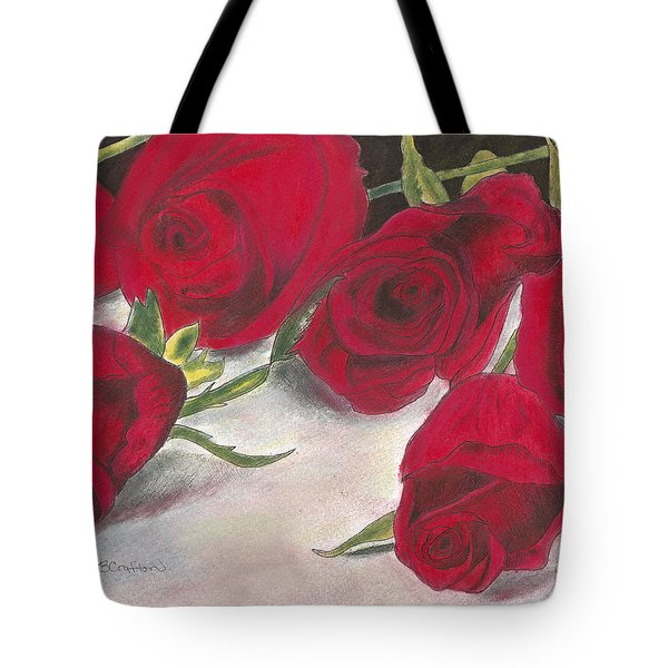Red Rose Redux Tote Bag