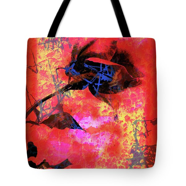 Red Rose Tote Bag by Robert Ball