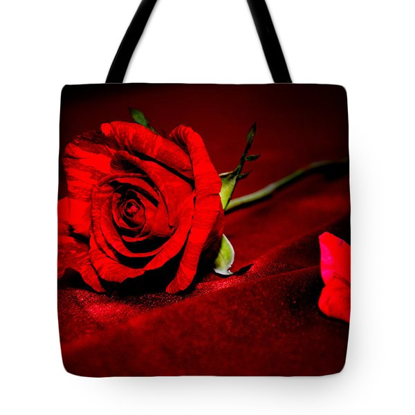 Red Rose  Tote Bag by Serena King