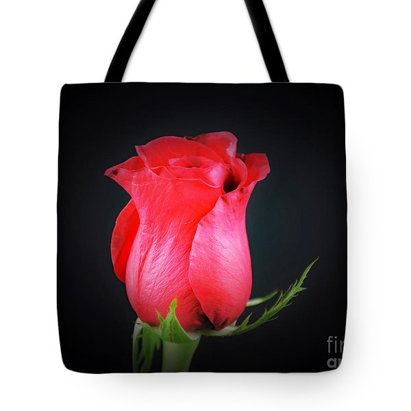 Red Rose Shows Love  Tote Bag by Ray Shrewsberry