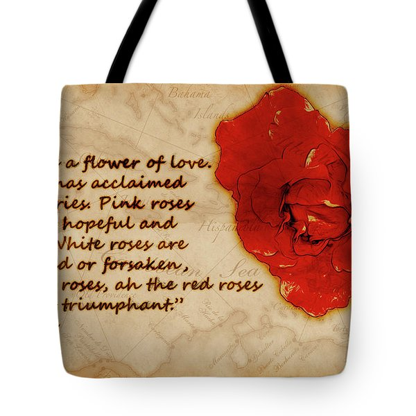 Red Rose Significance Tote Bag