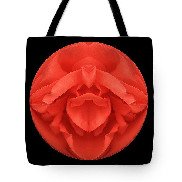 Red Rose Sphere Tote Bag