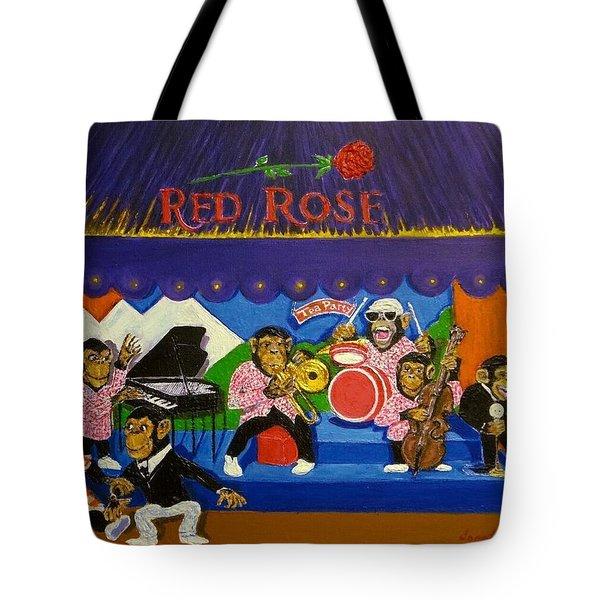 Red Rose Tea Chimpanzees Tote Bag