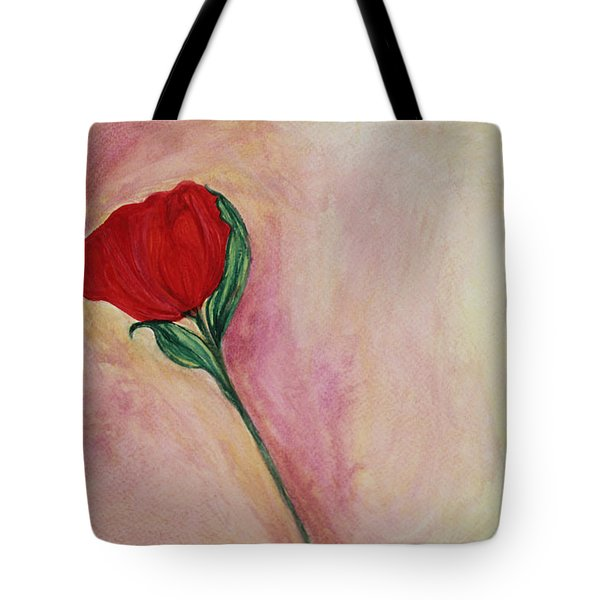Red Rose Tote Bag by The Art Of Marilyn Ridoutt-Greene